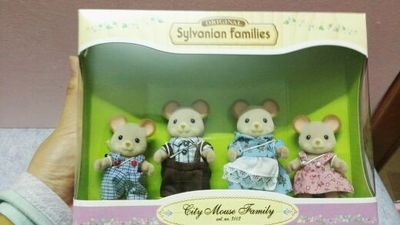 mouse dog family original mini size Sylvanian Families original Figures Anime Cartoon figures, Toys Child Toys gift tt03 sylvanian families mouse family 4pcs parents