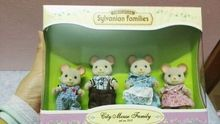 mouse dog family original mini size Sylvanian Families original Figures Anime Cartoon figures Toys Child Toys
