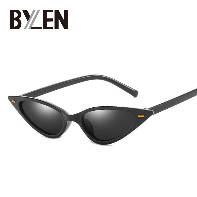 16eff5a91e2 Small Cat Eye Sunglasses Women Narrow Thin 2019 Ultra Light Retro Cheap Cateye  Sun Glasses UV400