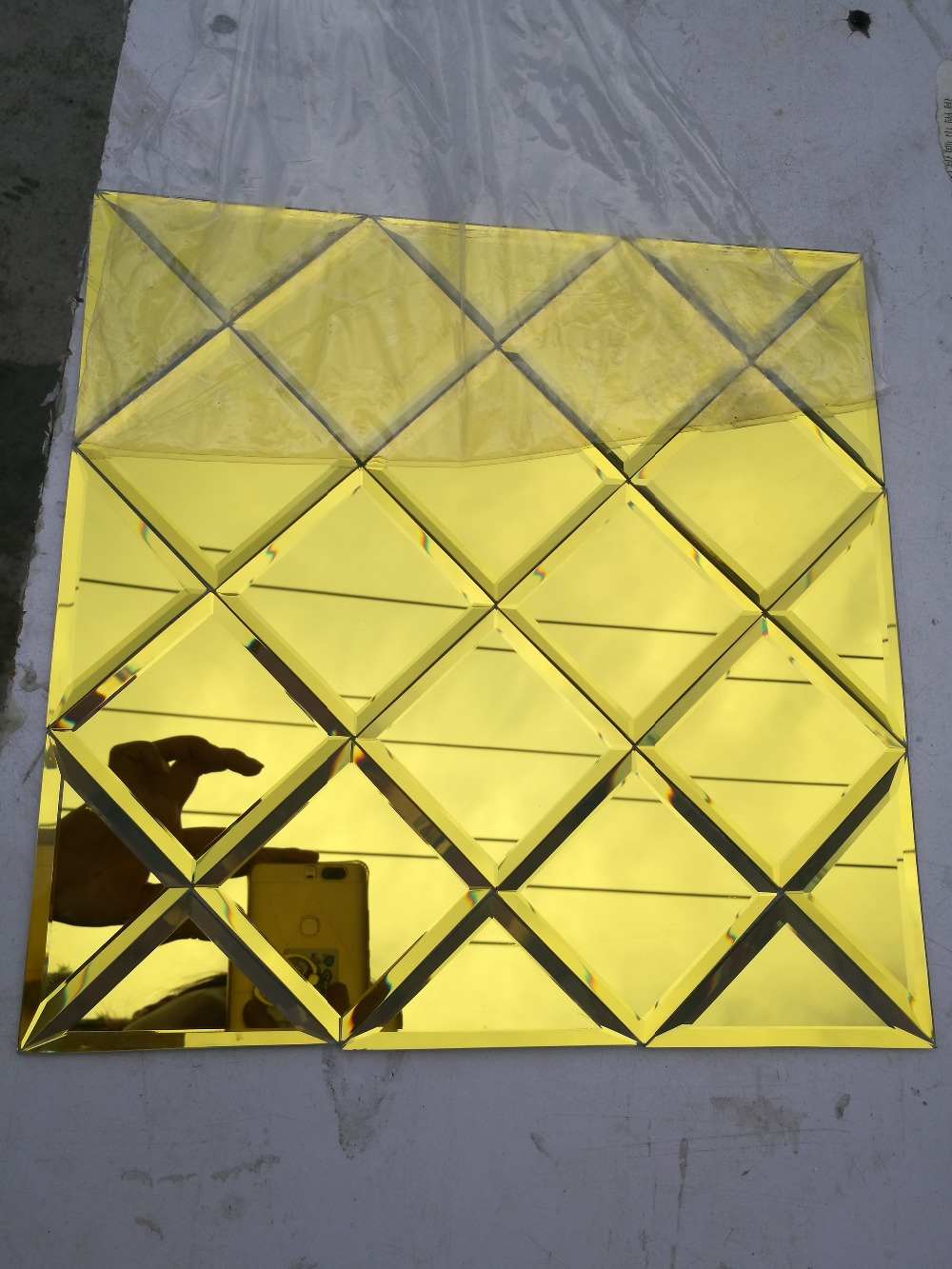 Puzzle art golden glass mirror mosaic tile showroom lobby ktv puzzle art golden glass mirror mosaic tile showroom lobby ktv display ceiling tile wall tile in wallpapers from home improvement on aliexpress dailygadgetfo Choice Image
