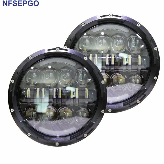 Nfsepgo Led Headlight For Land Rover Defender Jeep Wrangler Jk Tj Cj Hummer Projector Jpg X