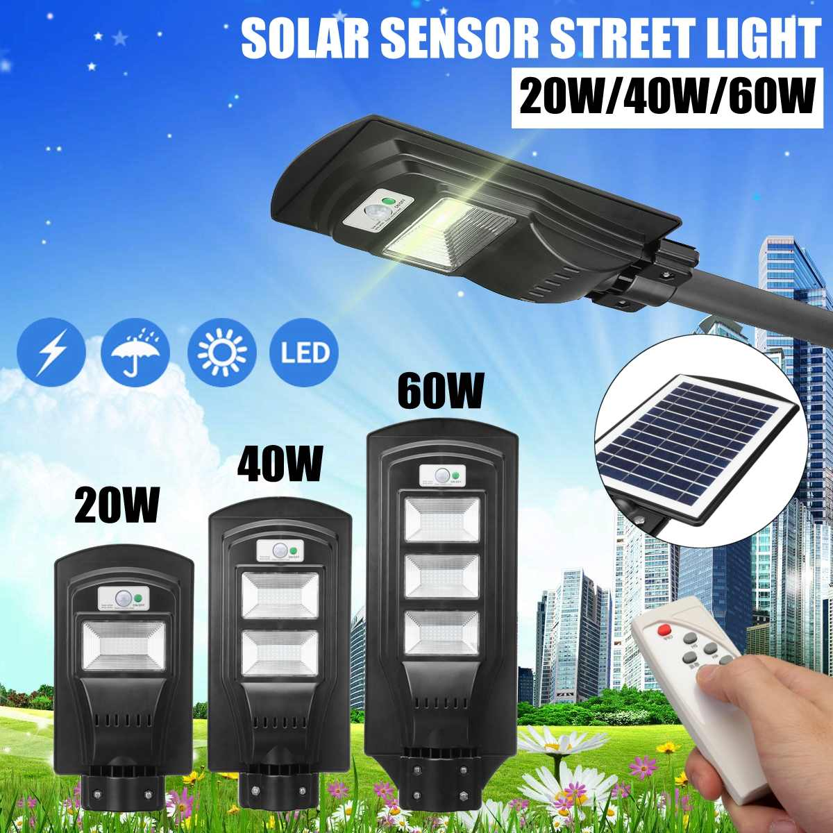 20-90W Radar motion 2 In 1 Constantly bright & Induction Solar Sensor Light Remote Control Outdoor LED Wall Lamp Street Light20-90W Radar motion 2 In 1 Constantly bright & Induction Solar Sensor Light Remote Control Outdoor LED Wall Lamp Street Light