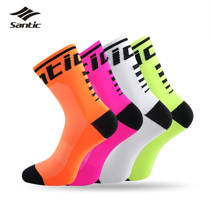 Santic Cycling Socks Men Women Anti-sweat Outdoor Sports Running Basketball Sport Socks Bicycle Bike Socks Calcetines Ciclismo цены