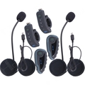 HIGH QUALITY! ! One Pair Handlebar Remote Control Bluetooth 3.0 Motorcycle Helmet Headsets Wireless Intercom for 5 Riders