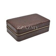 COHIBA High Quality Coffee Travel Case Cedar Wood Lined Cigar Humidor Case Mini Box