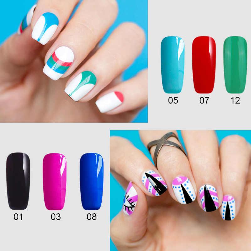 BUKAKI 1 pièces Gel laque couleurs pures UV Gel manucure bricolage Art des ongles conseils Gel vernis Design vernis à ongles couleur Gel vernis