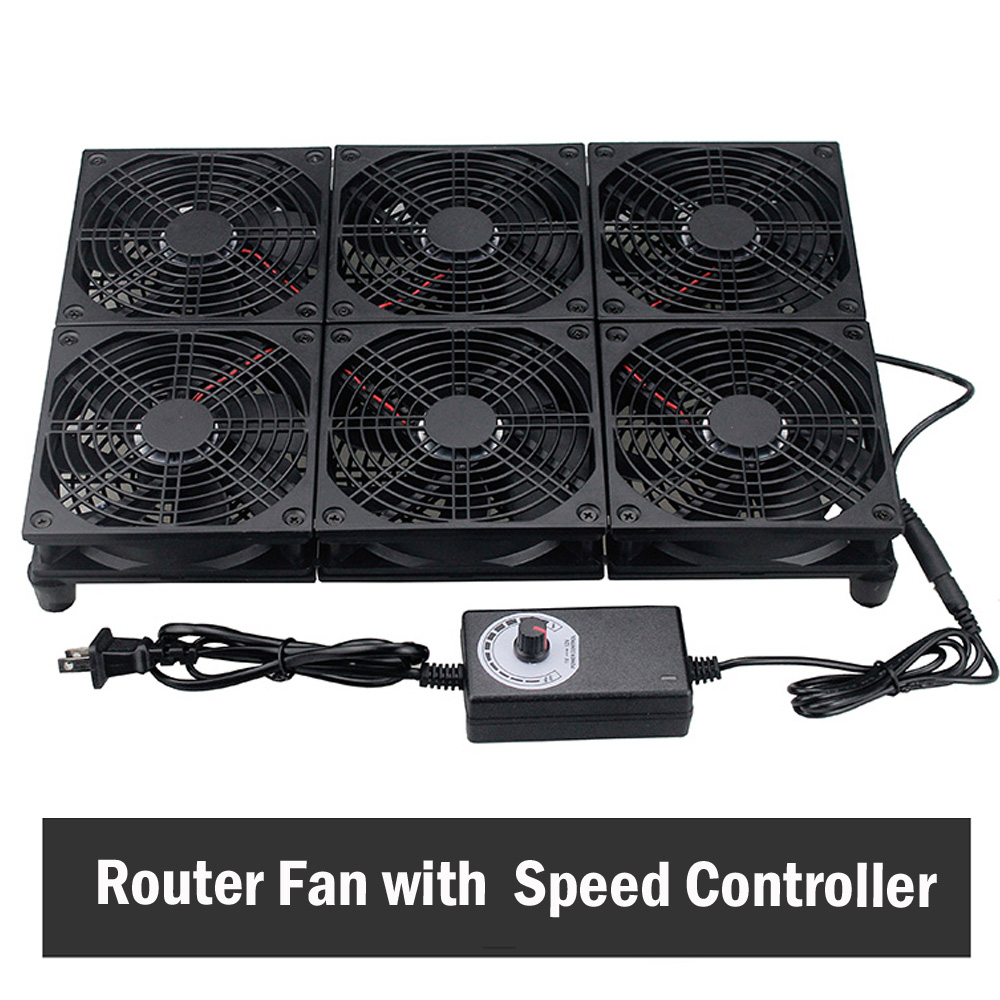 Gdstime 120mm GT/RT-AC5300 bricolage TV Box routeur ventilateur 110 V 120 V 220 V 240 V vitesse réglable refroidissement refroidisseur ventilateur 240mm 240mm x 240mm