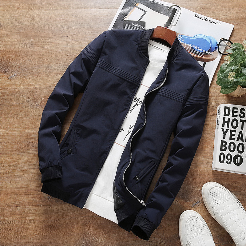NEW 2018 Spring Autumn Casual Men's Jacket Fashion Slim Men Overcoat New Arrival men coat Plus Size