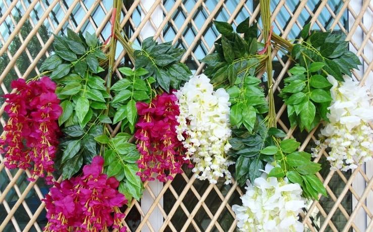 Intergards глицинии искусственный цветок - Товары для праздников и вечеринок - Фотография 2