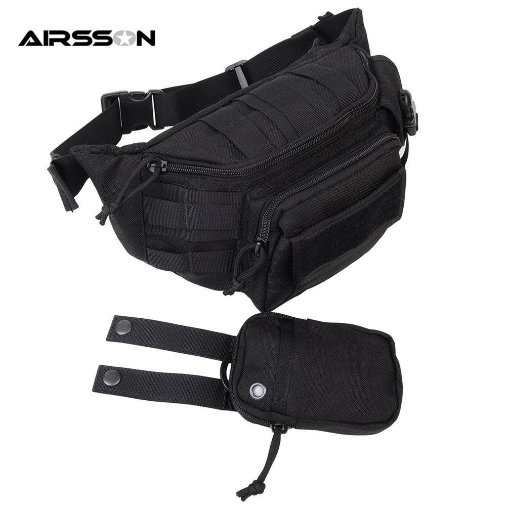 Airsson 1000D Nylon Molle Tactical Waist Bag EDC Shoulder Pouch Hunting Travel Portable Durable Waterproof Waist Pack Tool Bag jinjuli nylon tactical pouch