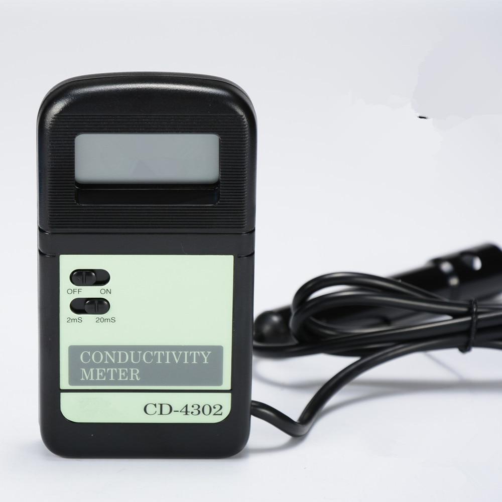 New Digital High Accuracy Conductivity Meter Portable CD4302 Multi-range1.999mS,19.99mS High Precision Mini Conductance Tester New Digital High Accuracy Conductivity Meter Portable CD4302 Multi-range1.999mS,19.99mS High Precision Mini Conductance Tester