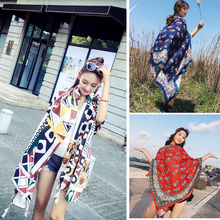 NEW Luxury brand summer women long scarf black head floral print shawls fashion cotton and linen beach tow
