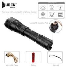 Flashlight Zoomable Tactical flashlight 1200 Lumen