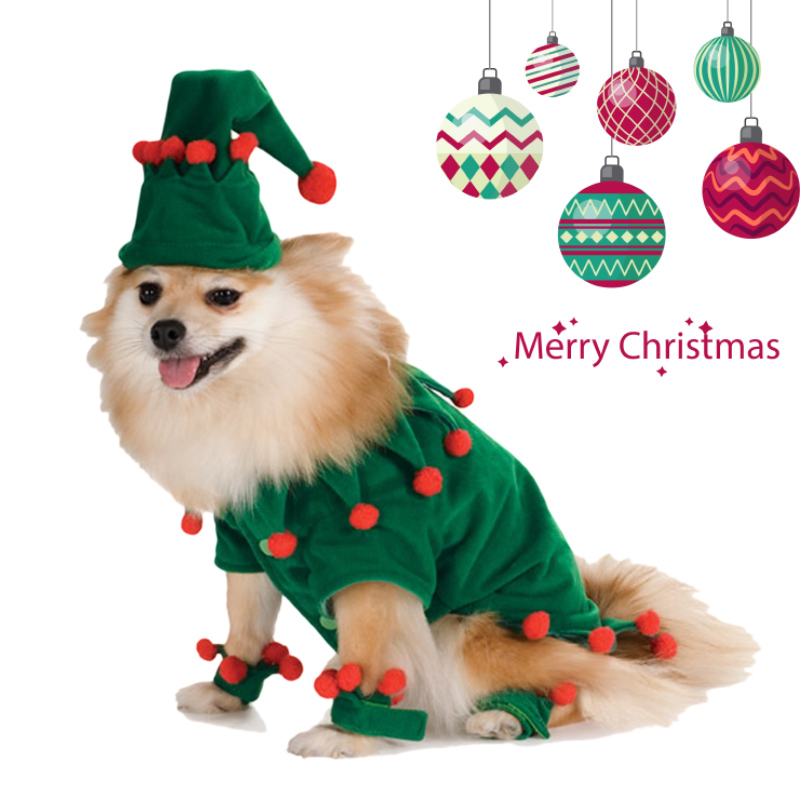Funny Dog Cat Costumes Pet Christmas Wizard Cosplay Suit Halloween Xmas Apparel Clothes For Dogs Costume for a cat Size S-XL