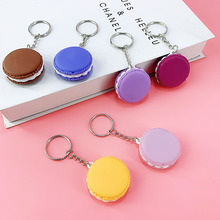 New creative PVC Soft glue material macaron Imitation cream sandwich biscuits, cake key ring pendant toys Small Gifts