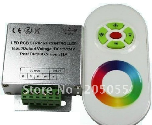 reputable site fa96b 1332f 12V 18A Wireless RF Dimmer Controller Touch Touching Remote controll for  RGB LED Strip lights ---White