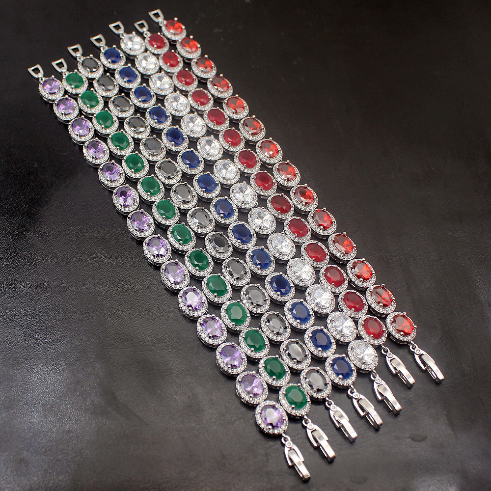 38% OFF Big Promotion Multi Color Natural Stone 925 Sterling Silver Links Bracelet Women Jewelry