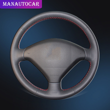 Auto Braid On The Steering Wheel Cover for Peugeot 307 2001-2008 SW 2005-2008 Car-styling Interior Car
