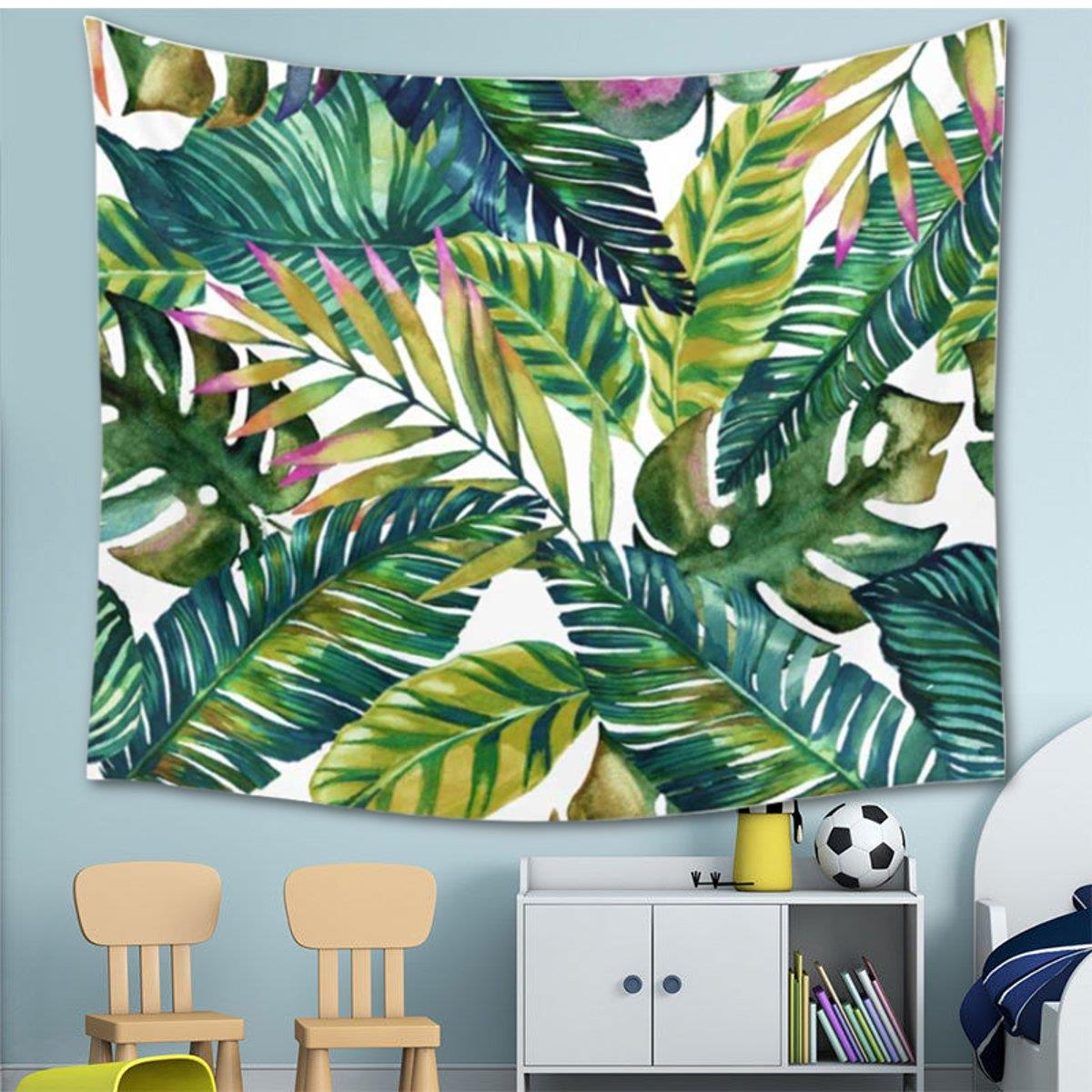 Wall Hanging Tropical Banana Leaves Tapestry Polyester Throw Blanket Home Room Decoration Bohemian Bedspread Dorm Cover In From Garden