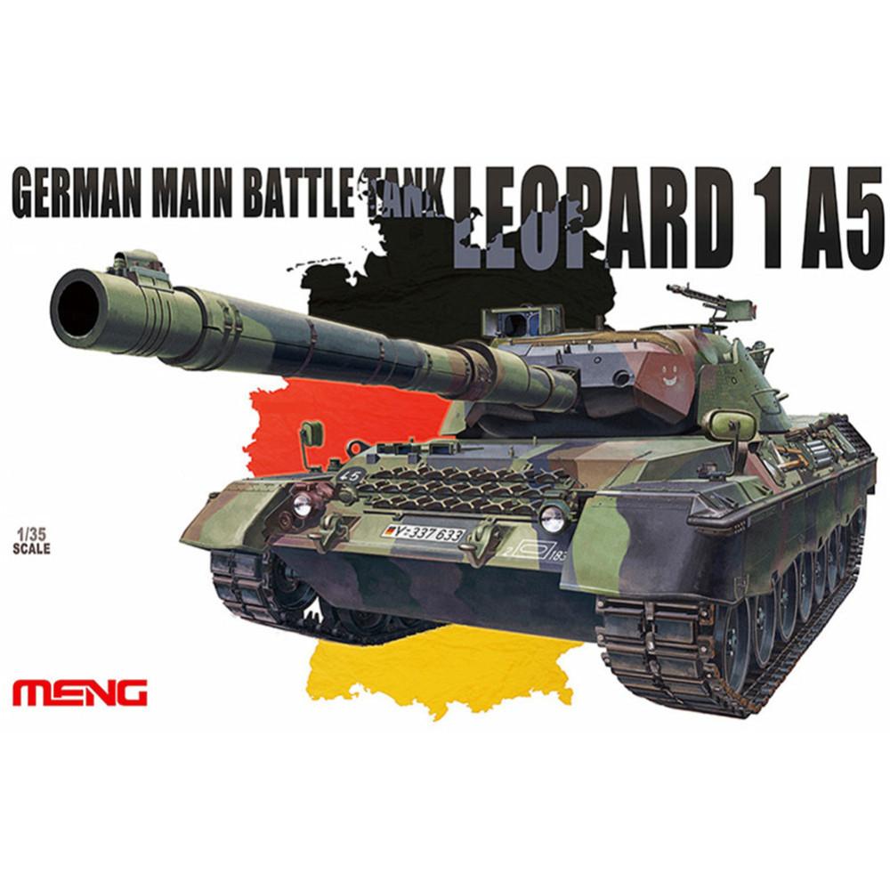 OHS Meng TS015 1/35 German Main Battle Tank Leopard 1 A5 Military AFV Model Building Kits ohs meng ts015 1 35 german main battle tank leopard 1 a5 military afv model building kits