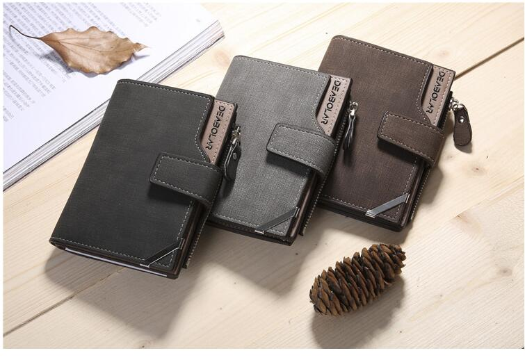 2018 pu Leather Women Wallets Female Fashion Zipper Small Wallet men Short Coin Purse Holders Retro Wallet and Purses portfolio