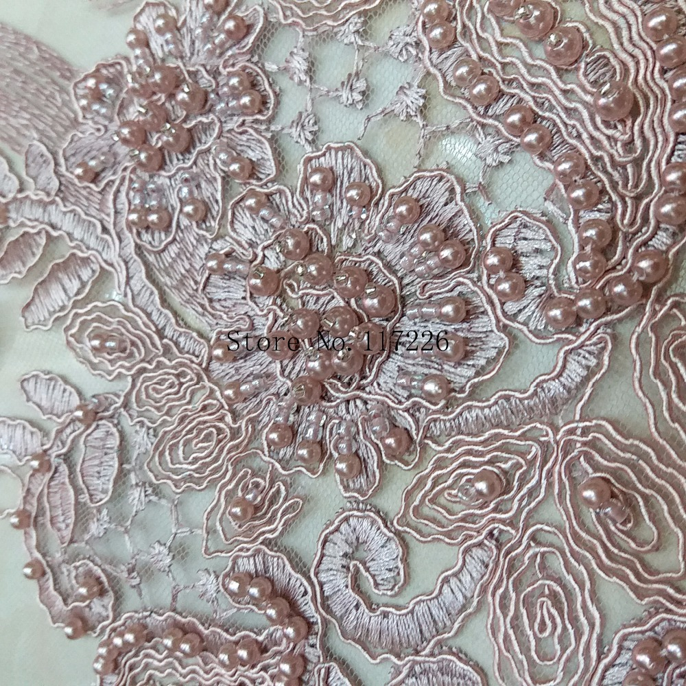 wholesale 3d flower JRB 33102 African net lace fabric (5yards/lot) french embroidery tulle lace fabric with beads for wedding