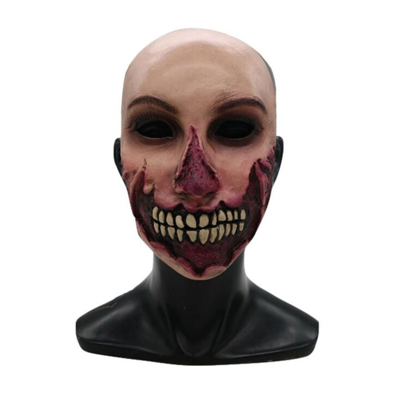 Hot New Movie The Walking Dead Halloween Zombie Mask Cosplay Costumes Props Classics Overstate Terror Mask Adult Party Bar