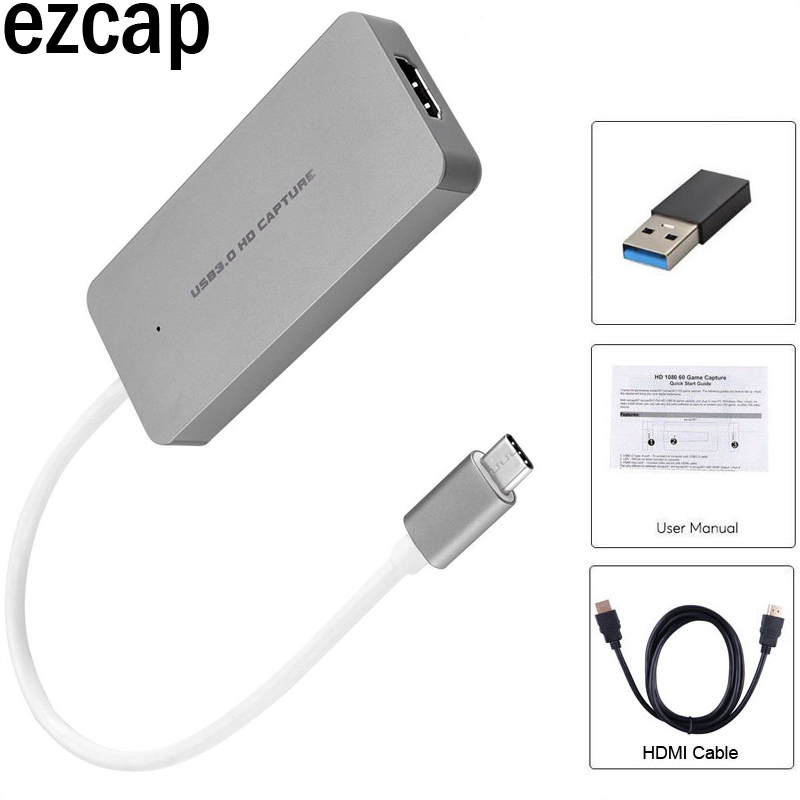 US $70 58 9% OFF|Aliexpress com : Buy HDMI to Type C USB3 0 1080P Video  Capture Card Grabber Phone PS3 PS4 Game Live Streaming for Macbook Mac  Windows