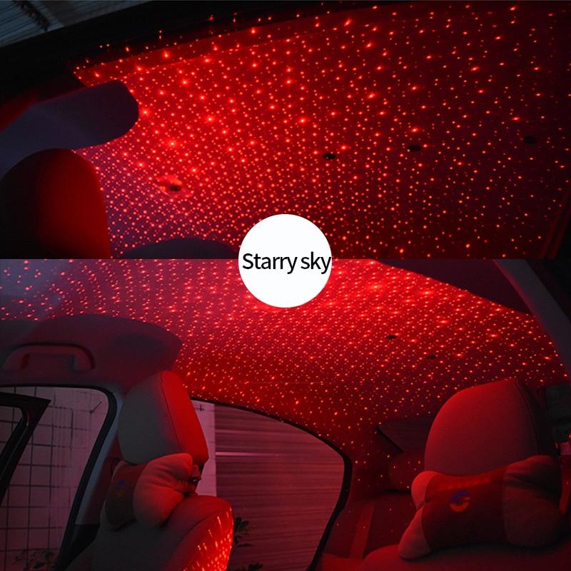 Galaxy Lamp USB LED Car Atmosphere Ambient Star Light DJ RGB Colorful Car Mod