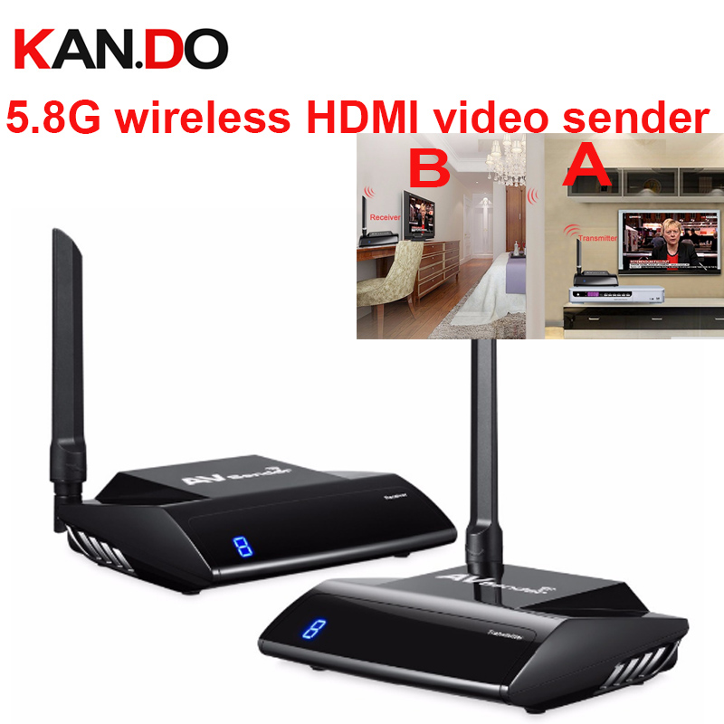 580HDMI 5.8GHz IR Remote Extender 300m HDMI Wireless AV Transmitter & Receiver Compatible with HDTV DVD, DVR, CCD camera 80 channels hdmi to dvb t modulator hdmi extender over coaxial