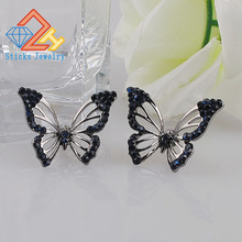 New Fashion Big Butterfly Stud Earrings For Women Cute Party Jewelry Wholesale Gift