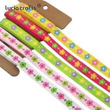 Lucia crafts, 5 лет/6 лет, 3/8 дюйма, 10 мм, лента в горошек с цветочным принтом, лента для упаковки, бант для волос и аксессуары для шитья R0301