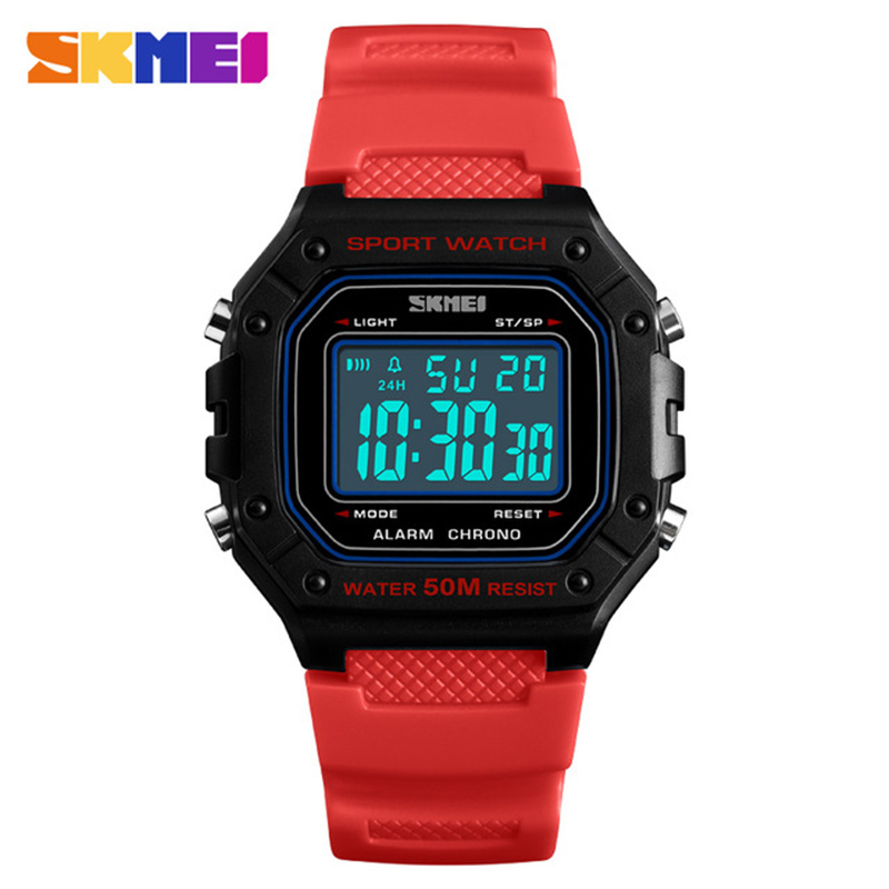 93803411d5c1 Men Silicone Sport Watch SKMEI Top Brand Mens Digtial Watches Waterproof  Military Electronic Wristwatch Male Clock Reloj 1496