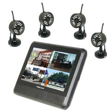 YobangSecurity Wireless 4CH CCTV DVR Day Night Security Camera Surveillance System 4 digital Cameras with 7″ TFT LCD DVR