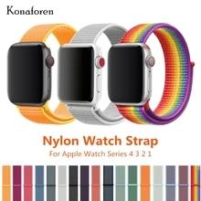 лучшая цена Sport Woven Nylon Strap Band For Apple Watch 3 42mm 38mm Wrist Bracelet Belt Fabric-Like Nylon Band For iWatch 4/3/2/1 40mm 44mm