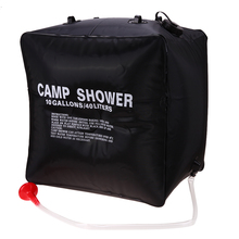 40L Shower Bag Foldable Solar Energy Heated Camp PVC Water Bag Outdoor Camping Travel Hiking Climbing BBQ Picnic Water Storage