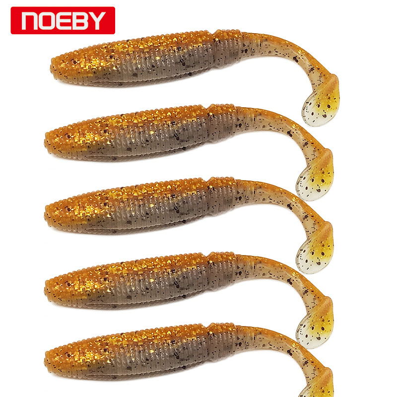 Noeby Soft Lures 6 ədəd 8.5sm 10 sm Pesca Shad f yemi UL Balıq ovu - Balıqçılıq - Fotoqrafiya 5