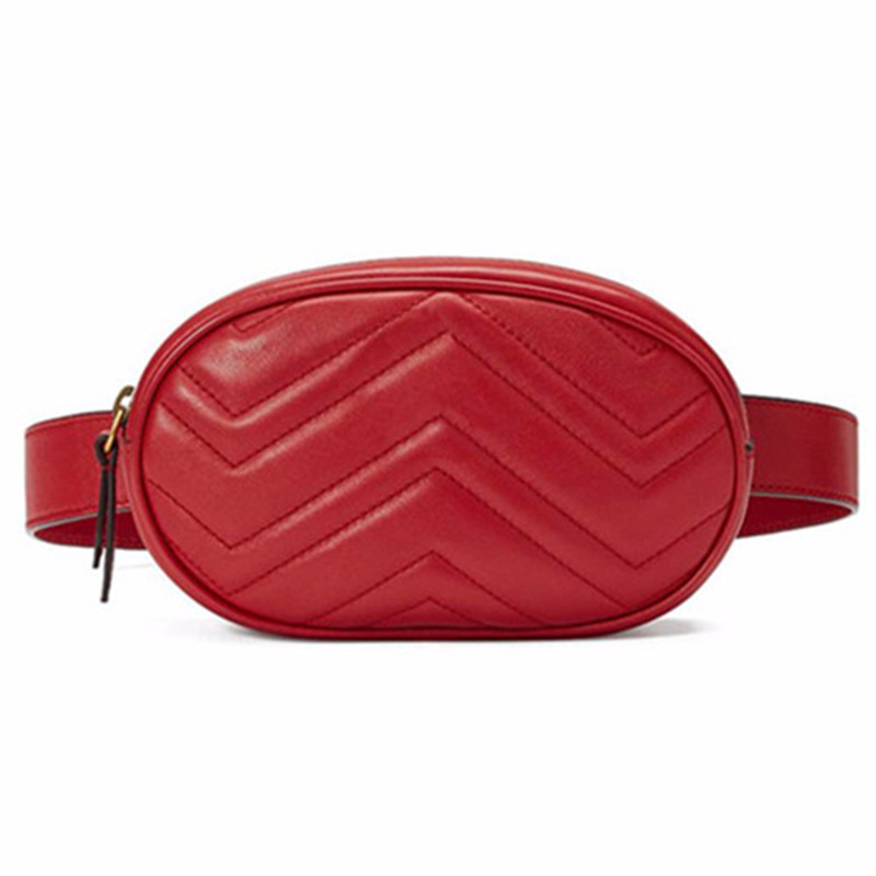 Taille Sac Femmes Taille fanny Packs ceinture sac de luxe marque en cuir poitrine sac à main rouge noir couleur 2018 nouveau mode hight qualité