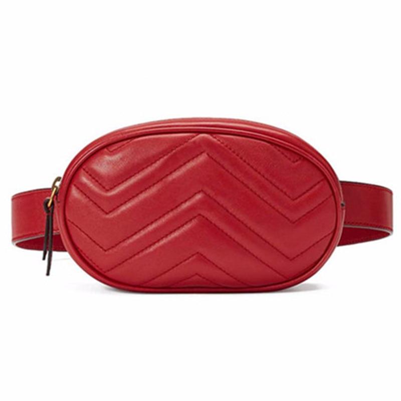 Waist Bag Women Waist fanny Packs belt bag luxury brand leather chest handbag red black color 2018 new fashion hight quality цена 2017