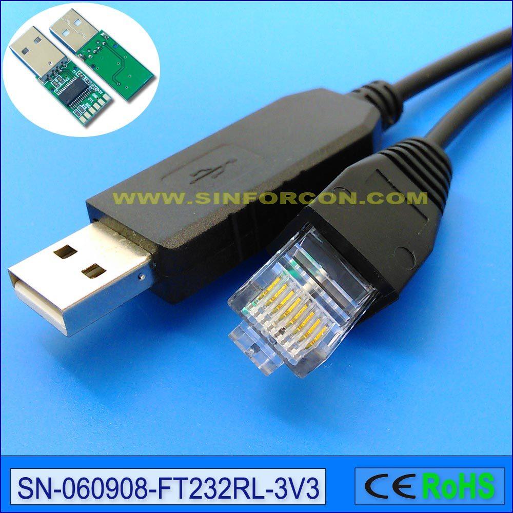 medium resolution of ftdi ft232rl usb uart ttl 3 3v to rj45 rj11 rj12 rj9 rj25 rj50 cable for