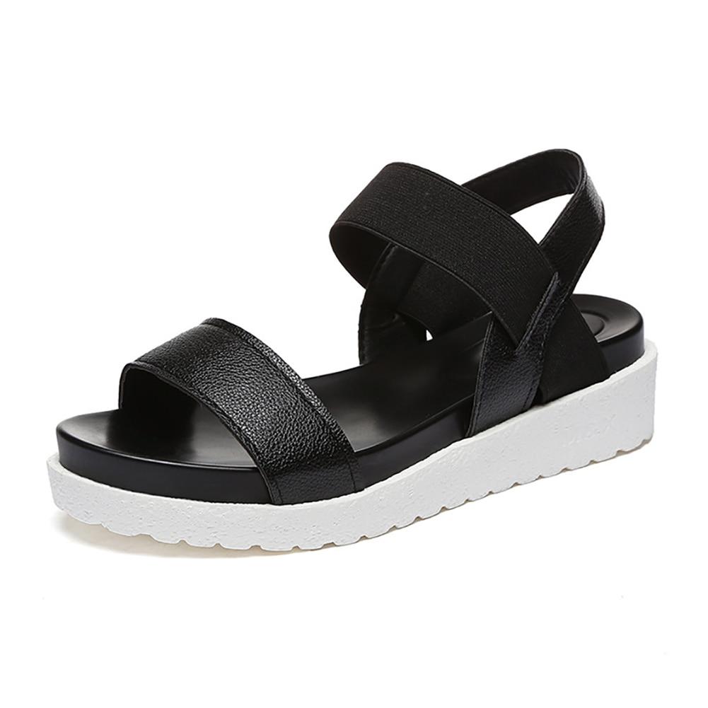 Mode Schuhe 3 Frauen 813 Flache Pu Komfortable Gladiator Sandalen In Mujer Us8 Farben Leder Sommer Damen Alias 2017 TlFcJK13