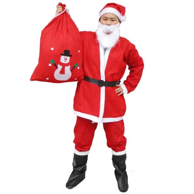 prendas de vestir de cuero botasbotas de pap noel de la navidad artculos de