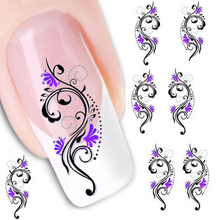 1PC Water Transfer Slide Decal Sticker Nail Art Tips Toe Decoration XF1423 Aug 25