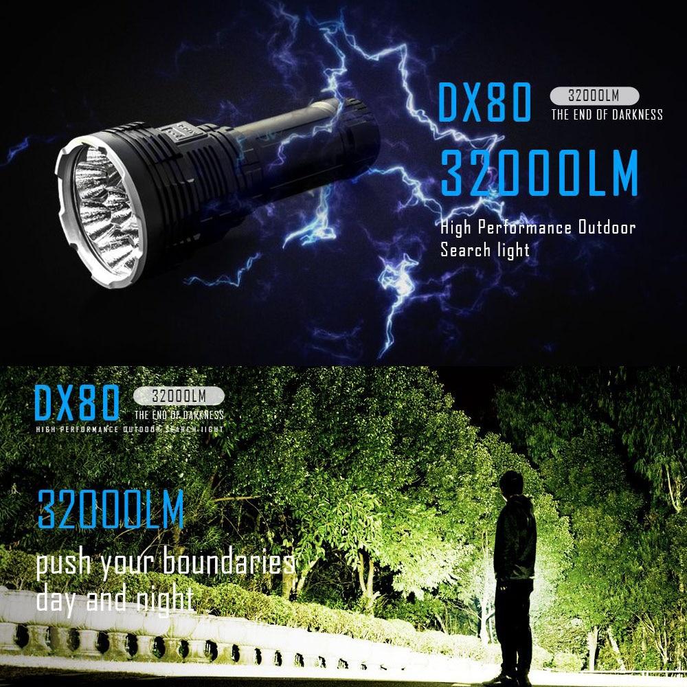 IMALENT DX80 8*Cree XHP70 LED Flashlight 32000 Lumens 806 Meters USB Charging Interface Torch Flashlight плеер ibasso dx80