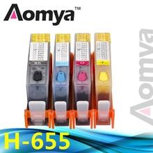 [Полный Чернила] для HP 655 многоразового картридж для HP Deskjet 3525 4615 4625 5525 6525 Принтеры чернил с чипы для HP 655