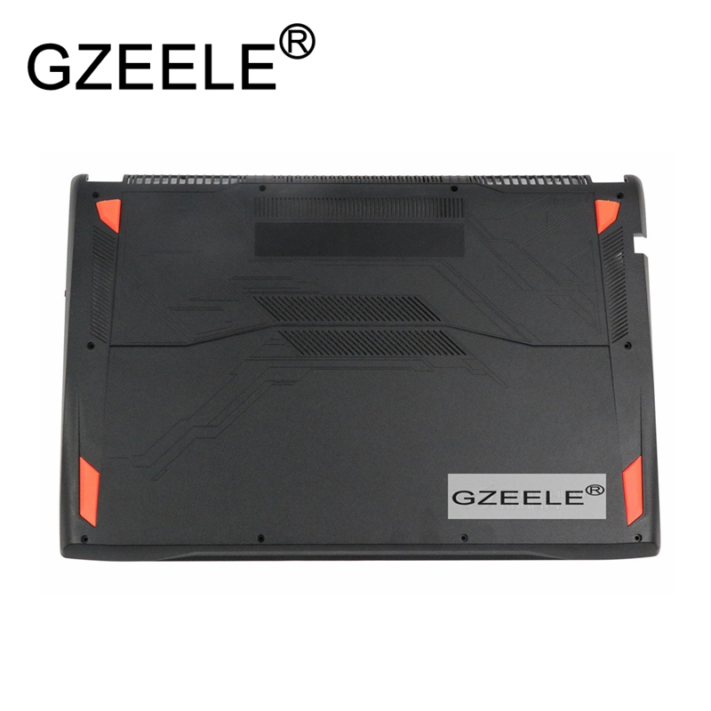 GZEELE New for ASUS GL702 GFX71J4860 GL702VM Lower Bottom Case Cover 13NB0DZ1AP0311 new for asus rog gl702gl702vs gfx71j4860 gl702vm lcd back cover 13nb0cq1am0111