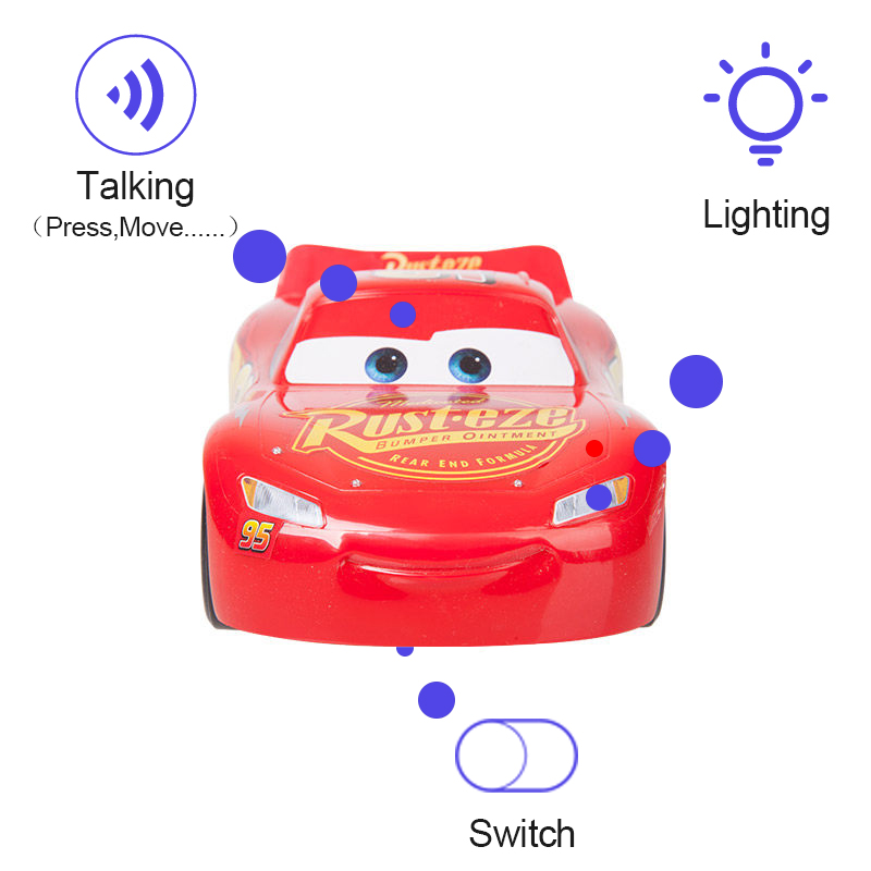 Disney Pixar Cars 3 New Talking Flash Electric Car Lighting McQueen Diecast Plastic Toy Birthday Gifts For Kids Cars Toys FRP23