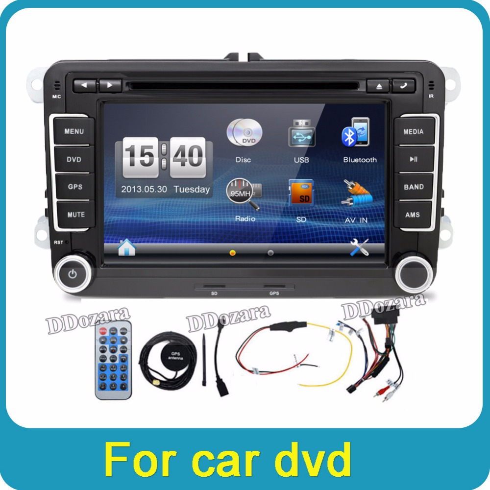 7 autoradio gps navigation sat nav dvd player for vw passat golf 5 6 polo caddy in car. Black Bedroom Furniture Sets. Home Design Ideas