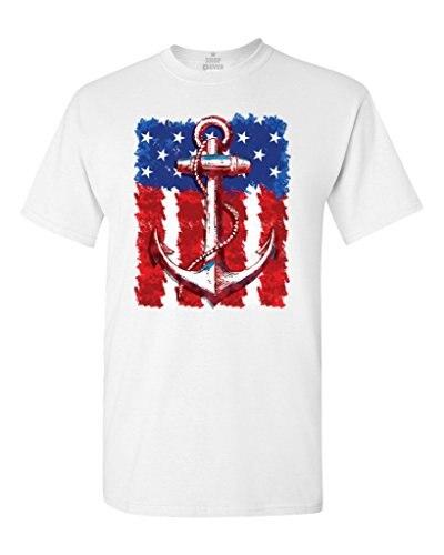 American flag anchor t-shirt 4th of july shirts t shirt men funny tee shirts short sleeve stranger things design t shirt 2017-2