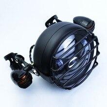 """شوكة ضوء CG125 الرجعية المصباح دراجة نارية حامل ل خمر هوندا 125 هارلي Dicati انتصار 6.2 """"مقهى المتسابق LED رصاصة ضوء"""